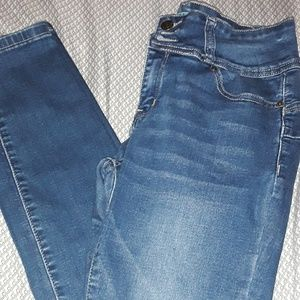 High waisted wax jeans